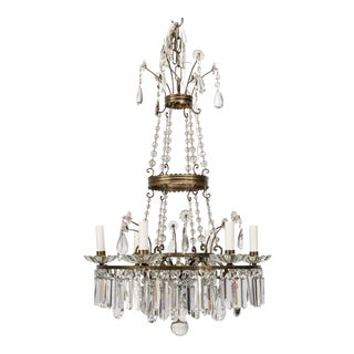 French Empire 6 Lite Chandelier For Sale