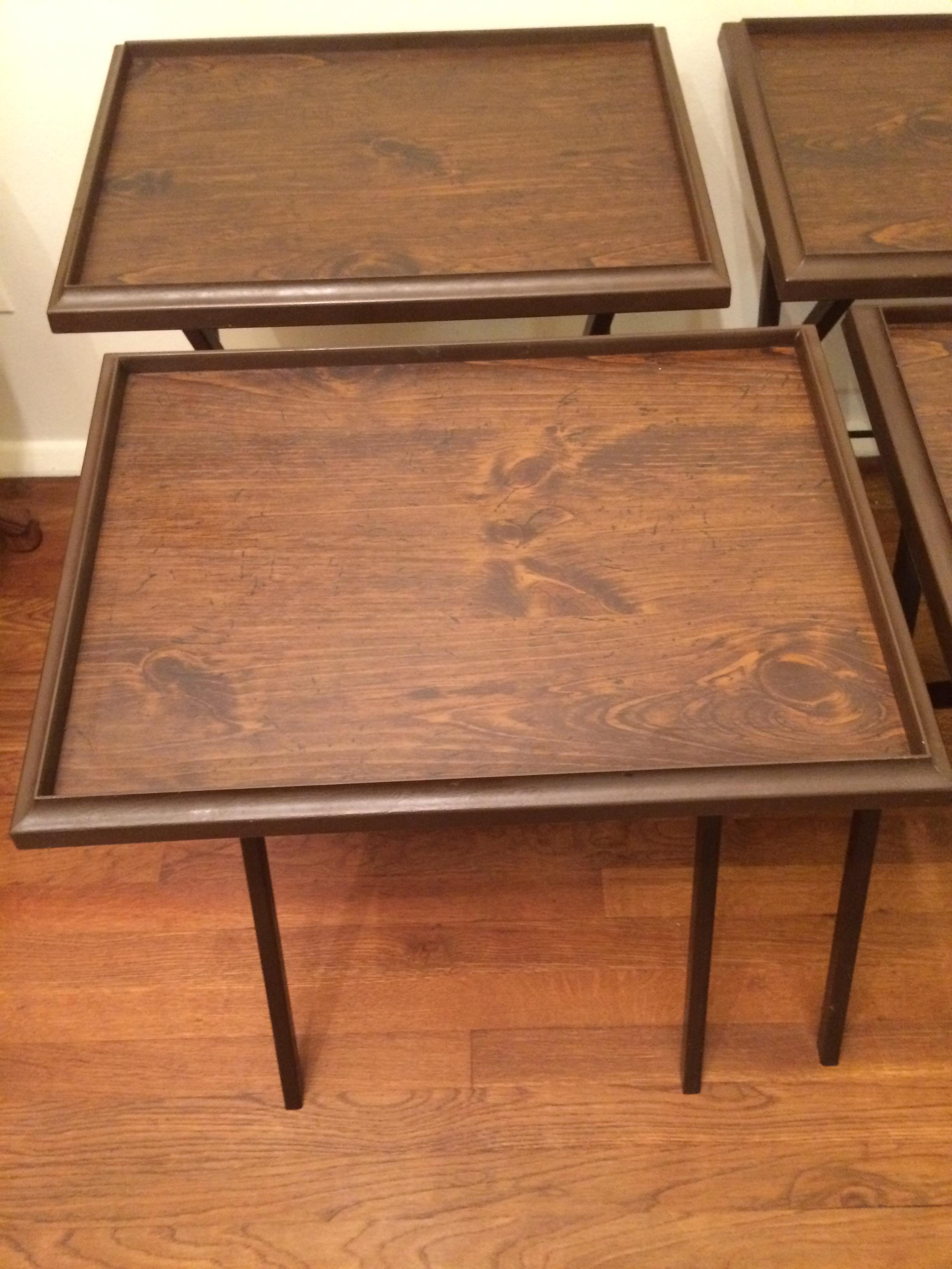 Vintage Artex \ Snack\  Tray Tables - Set of 4 - Image ...  sc 1 st  Chairish & Vintage Artex \