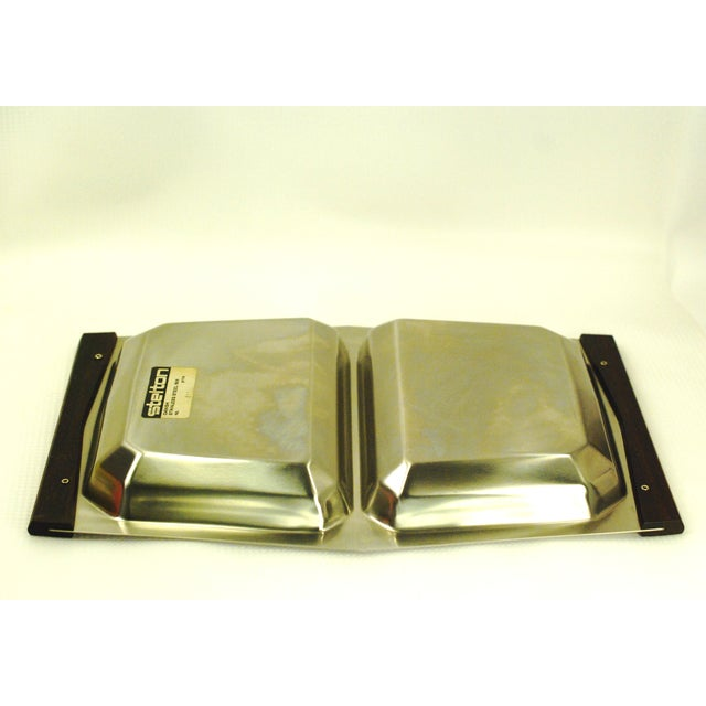 Mid-Century Modern Stelton Stainless Tray For Sale In Buffalo - Image 6 of 7