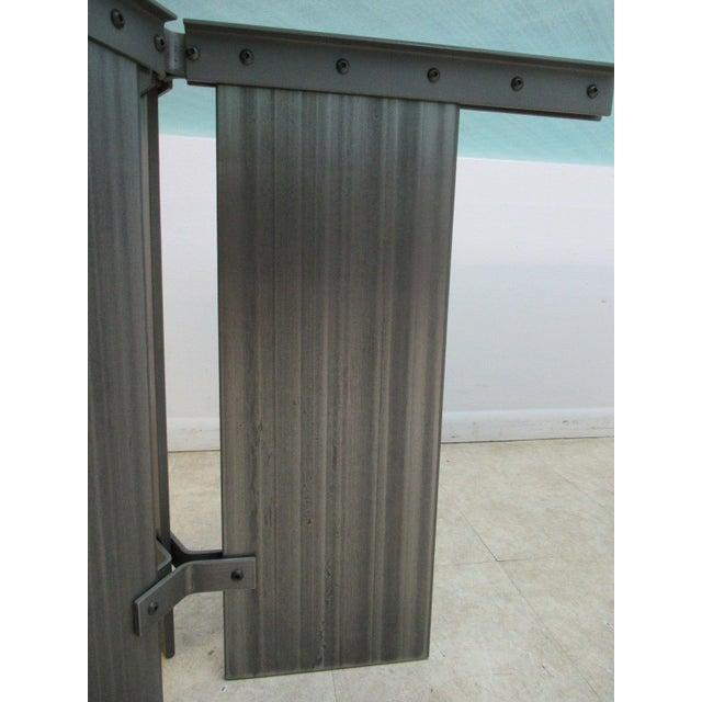 Vintage Industrial Steel Pedestal Conference Table For Sale In Philadelphia - Image 6 of 10