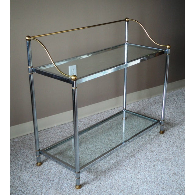 Vintage Chrome & Brass Console - Image 9 of 11