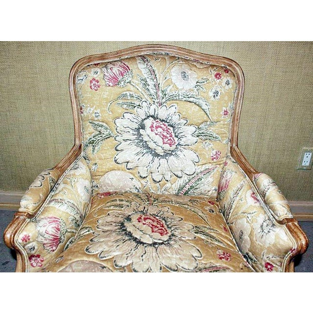 Contemporary Bleached Bergere Armchairs Pair For Sale - Image 3 of 7
