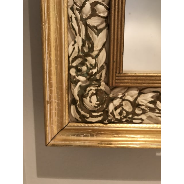 Mid-Century Modern Gilded Shadow Box Mirror With Carved Roses For Sale In Phoenix - Image 6 of 9