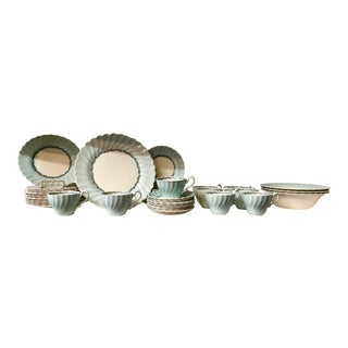 Antique English Porcelain China Set, 49 Pieces For Sale
