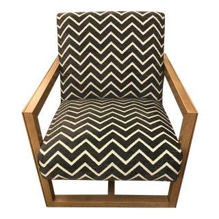 Modern Black Pattern Fabric Harrison Chair For Sale