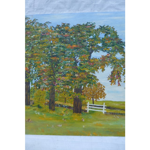 HL Musgrave Mid-Century New England Trees Painting - Image 4 of 6