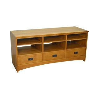 "Stickley Mission Oak Collection 62"" Tv Console"