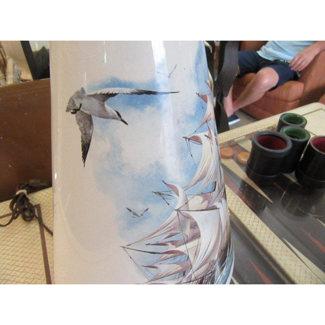 Hand Painted Ship Lamp - Image 5 of 9