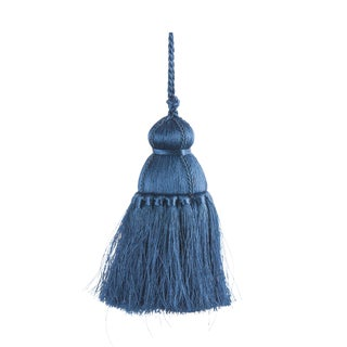 Pyar & Co. Trellis Home Tassel, Blue, Small For Sale