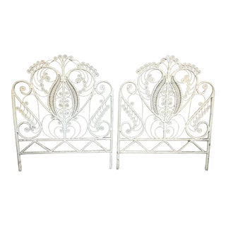 Boho Chic Peacock Twin Size Headboards * Custom Paint - a Pair For Sale
