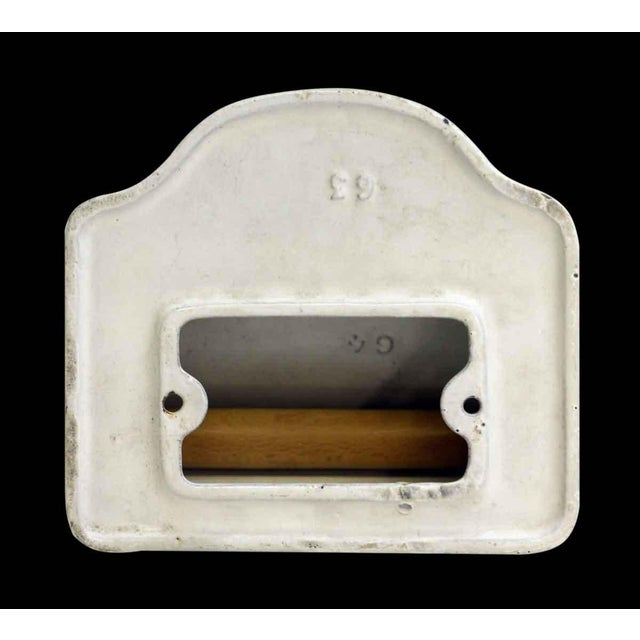 Cast Iron Vintage White Toilet Paper Holder For Sale - Image 7 of 7