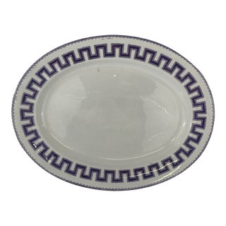 Large Ironstone Greek Key Platter For Sale