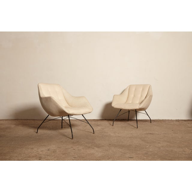 White 1950s Vintage Forma Brazil Carlo Hauner and Martin Eisler Shell 'Concha' Lounge Chairs - a Pair For Sale - Image 8 of 13