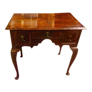 18th Century English Mahogany With Fruitwood Inlays Lowboy
