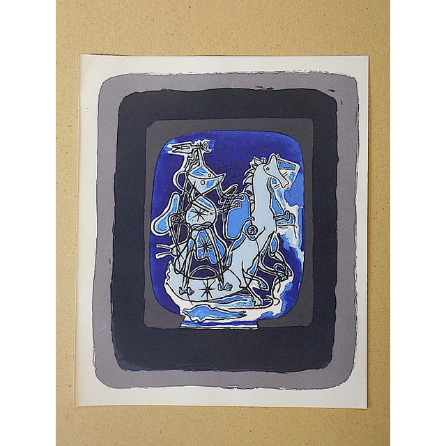 Mid 20th C. Modern Equine Lithograph - Georges Braque - Image 2 of 3