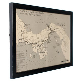 Vintage Republic of Panama Framed Map Preview