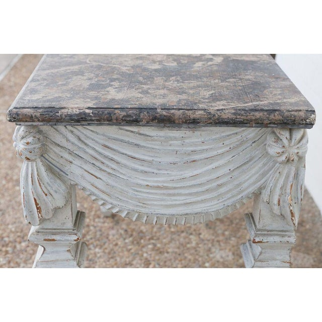 18th Century Carved and Painted Console For Sale In Houston - Image 6 of 10