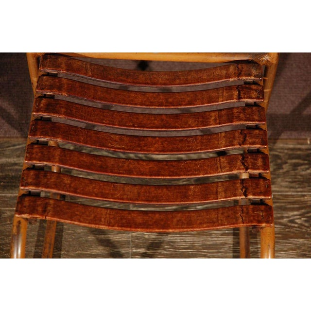 Painted Bakelite Slat Stacking Chairs, England, circa 1940 For Sale In Los Angeles - Image 6 of 11