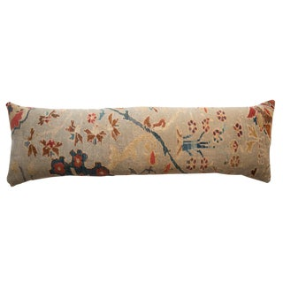 XL Reclaimed Antique Persian Rug Fragment Lumbar Pillow For Sale