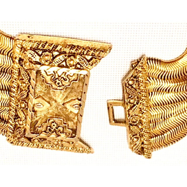 20th Century Les Bernard Inc. Gold Choker Necklace For Sale - Image 9 of 11