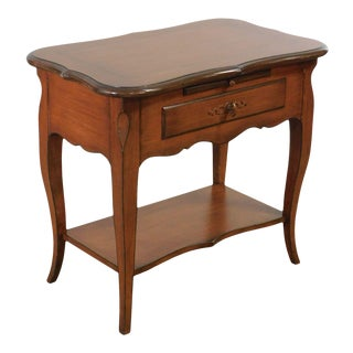 Baker French Country Style Painted one Drawer Nightstand For Sale