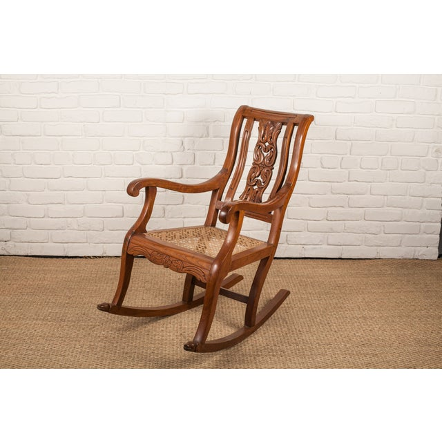 Teak Rocking Chair from 19th C. India - Image 2 of 6