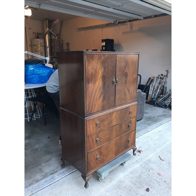 Vintage 1940s Tallboy Dresser For Sale - Image 4 of 8