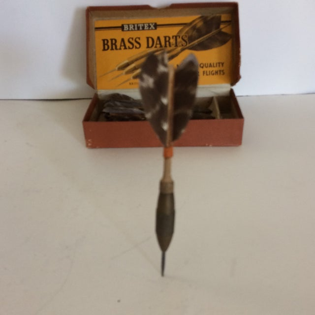 1940's Britex English Brass Darts W/feather Flights For Sale In Sacramento - Image 6 of 11