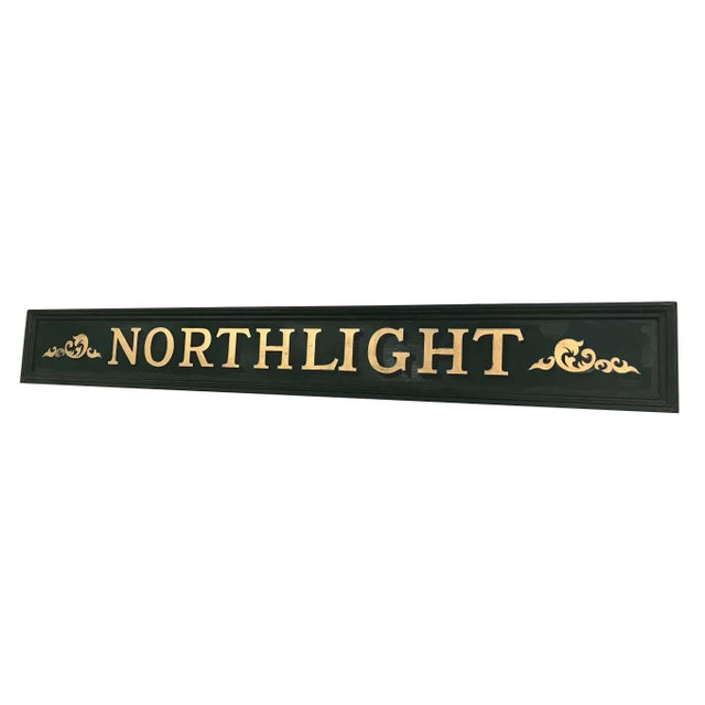 Gold Vintage Northlight Decorative Sign For Sale - Image 7 of 7