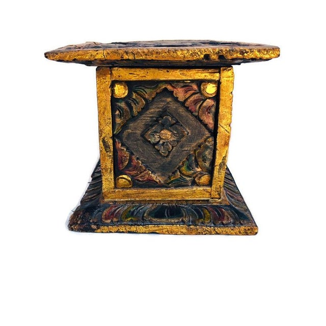 Vintage Balinese Alter Wood Carved Offering Box For Sale - Image 12 of 13