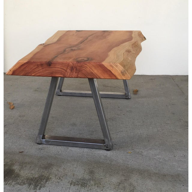 Live Edge Redwood Slab Coffee Table - Image 5 of 6