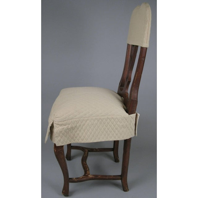 Mid-Century Modern 1970s Swedish Style Dining Chairs With Quilted Covers - Set of 8 For Sale - Image 3 of 8