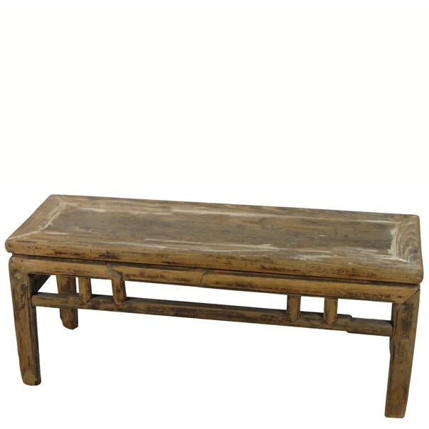 Rustic Shandong Elm Bench For Sale In Boston - Image 6 of 6
