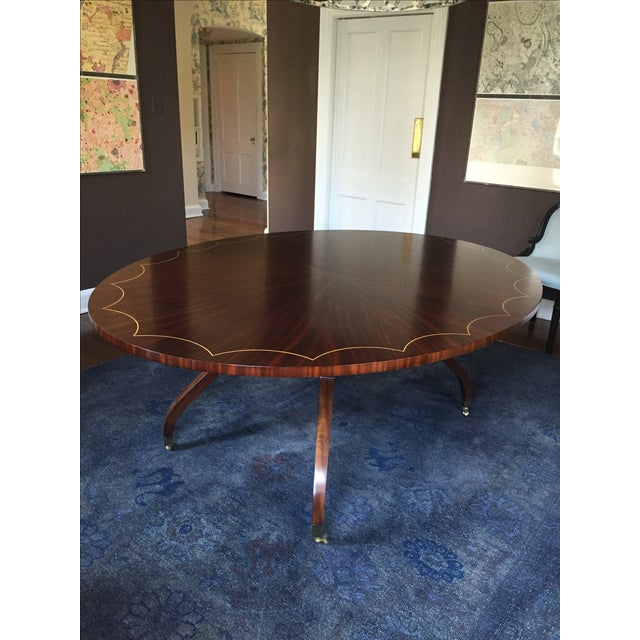 Oval Dining Table With 2 Leaves - Image 2 of 5