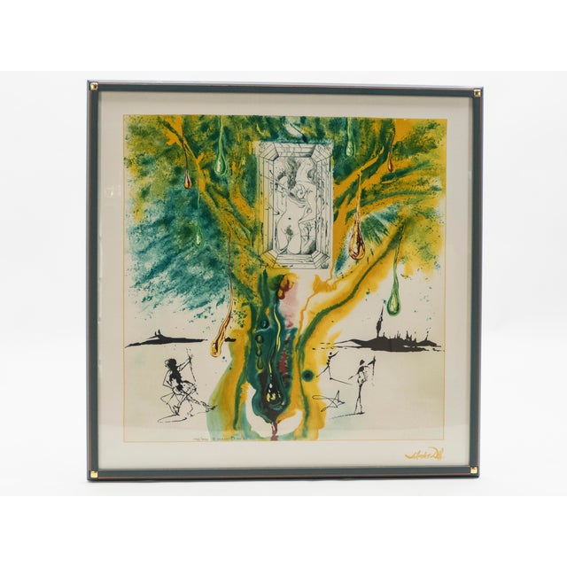 Salvador Dalí The Emerald of the Tablet Salvador Dali Silk Serigraphy 1989 - Edition of 2000 For Sale - Image 4 of 11