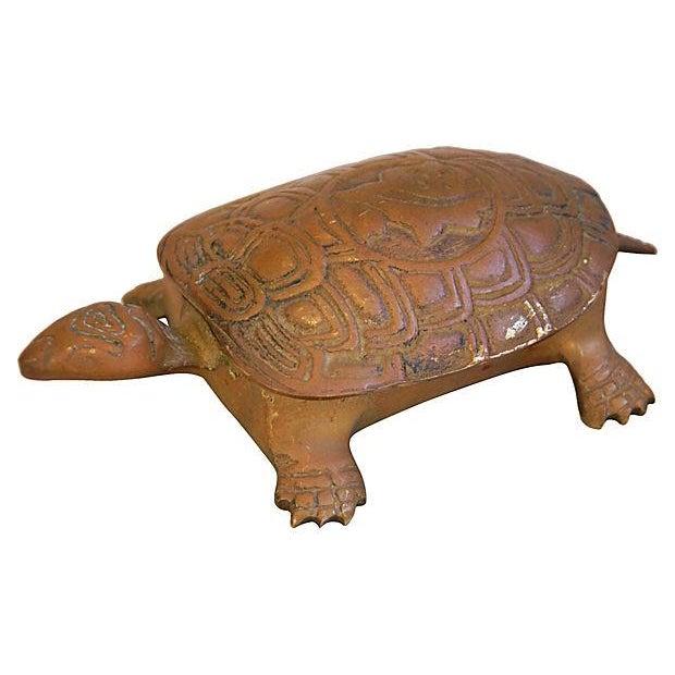 Mid-Century Brass Turtle Keepsake Trinket Box - Image 6 of 6