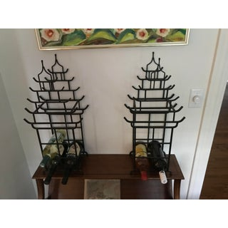 Vintage Pagoda Chinoiserie Wine Holders - a Pair Preview