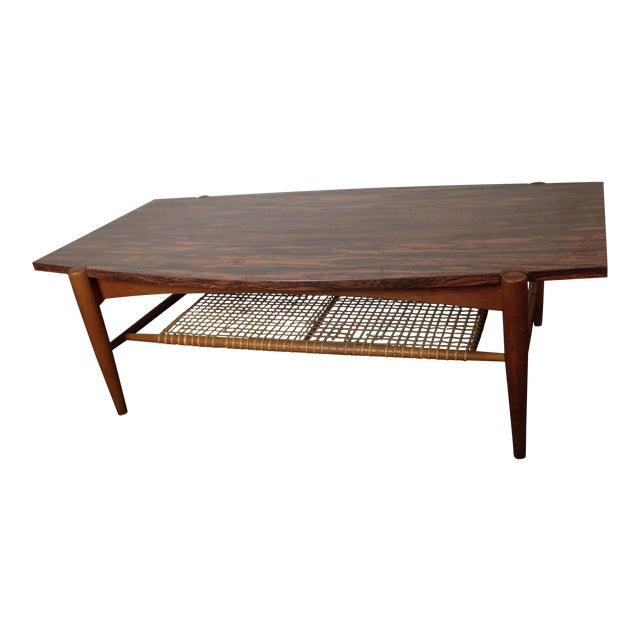 Mid Century Danish Modern Dux Coffee Table Folke Ohlsson For Sale