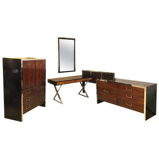 Milo Baughman for W. J. Sloane Bedroom Set - Set of 5 For Sale