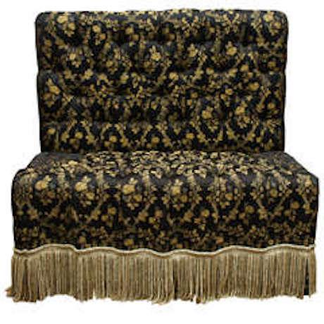 Victorian-Style Tufted & Upholstered Banquette For Sale In New York - Image 6 of 6