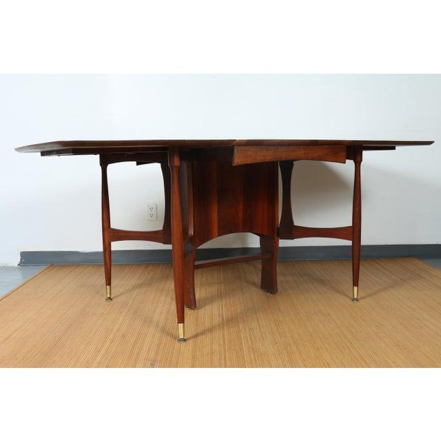 Solid Walnut Mid Century Folding Dining Table Chairish - Mid century modern folding dining table