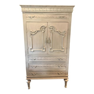 Pink & White French Armoire