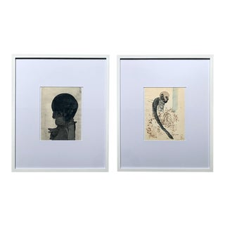 Framed Work on Paper by Jose Luis Cuevas - Pair For Sale