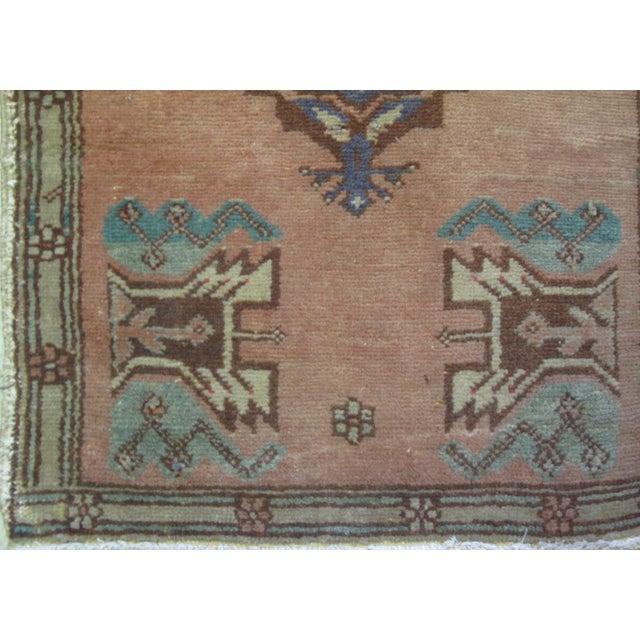 Vintage Turkish Oushak Rug - 1′10″ × 3′4″ - Image 5 of 6