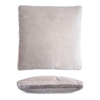 Silver Double Tuxedo Pillow For Sale