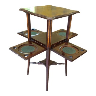 Antique Edwardian Dessert Table With Drop Doors For Sale