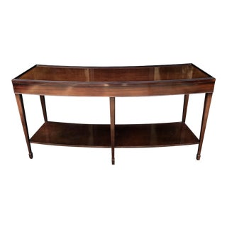 Signed Barbara Barry for Baker Curved Console Table