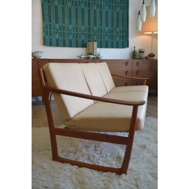 Danish Modern Danish Modern Sleigh Sofa by Peter Hvidt For Sale - Image 3 of 6