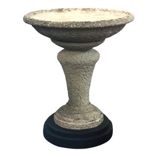 Large English Decorative Garden Stone Planter on Stand For Sale