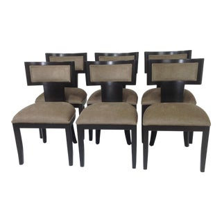 Mid Century Modern Klismos Dining Chairs - Set of 6 For Sale